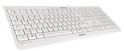 Cherry KC 1000 - Clavier 105 touches + 4 touches multimédia - USB gris