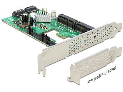 Carte PCI Express > Hybride 2 x internes SATA 6 Gb/s + 2 x internes mSATA