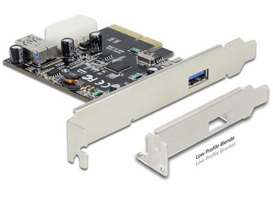 Carte PCI Express x4 > 1 x externe + 1 x interne SuperSpeed USB 10 Gbps (USB 3.1 Gen 2) type A femel