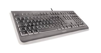 Cherry KC 1068 - Clavier 105 touches + 4 touches multimédia - étanche IP 68 - USB noir