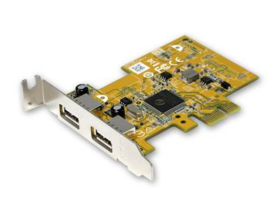 Carte PCIe USB2.0, format SFF( low profile) 2 ports type A
