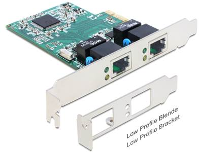 Carte PCI Express > 2 x Gigabit LAN