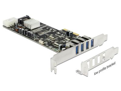 Carte PCI Express x4 > 4 x externes USB 3.0 Quad Channel