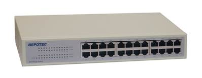 Switch réseau 24 ports 10/100 Rackable REPOTEC