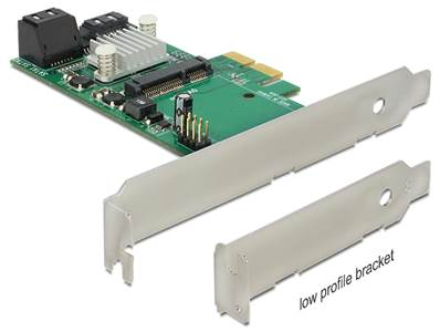 Carte PCI Express > Hybride 3 x internes SATA 6 Gb/s + 1 x interne mSATA