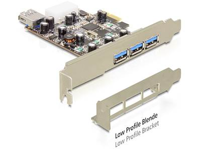 Carte PCI Express > 3 x externes + 1 x interne USB 3.0 Type-A femelle